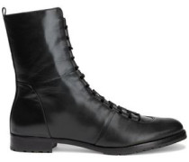 Woman Benjamine Leather Ankle Boots Black