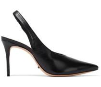 Phisalis leather slingback pumps