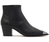 Blythe Embellished Suede Ankle Boots Black