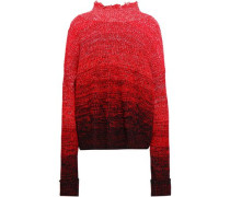 Dégradé Wool-blend Sweater Red