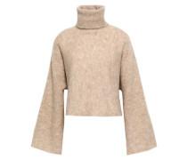 Woman Mélange Alpaca-blend Turtleneck Sweater Sand
