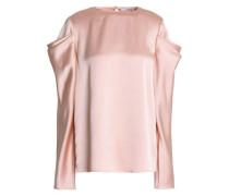 Celestia draped satin-crepe blouse