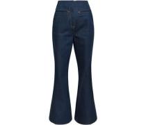 High-rise Flared Jeans Dark Denim