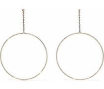 Gold-tone crystal earrings