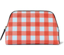 Gingham Leather Cosmetics Case Multicolor Size --