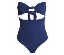 Tie-front cutout swimsuit
