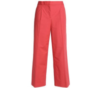 Pleated cotton-blend culottes