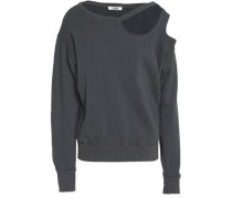 Cutout French cotton-terry sweatshirt