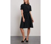 Steps Silk-faille Shirt Dress Black