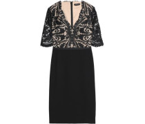 Guipure lace and jersey dress