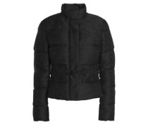 Quilted jacquard down jacket