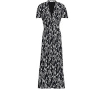 Woman Gaetan Printed Washed-crepe Maxi Dress Black