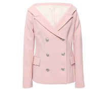 Frayne Double-breasted Crepe Blazer Baby Pink