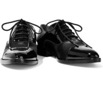 Elinor patent leather and satin brogues