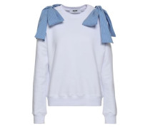 Bow-embellished French Cotton-terry Sweatshirt White