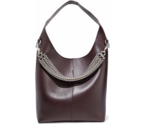 Genesis chain-embellished leather shoulder bag