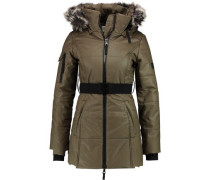 Kim faux fur-trimmed coated-cotton hooded coat