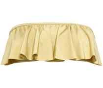 Strapless Metallic Stretch-jersey Bandeau Bikini Top Gold Size I A
