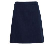 Flared Denim Mini Skirt Dark Denim