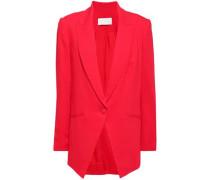 Woman Stretch-crepe Blazer Red