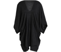 Draped wool-jersey top