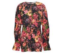 Floral-print Georgette Top Black Size 12