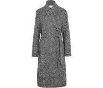 Wool-blend bouclé coat
