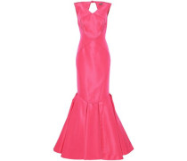 Fluted Silk-faille Gown Pink