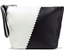 Origami two-tone leather clutch