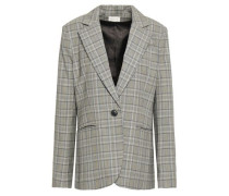 Prince Of Wales Checked Wool Blazer Gray