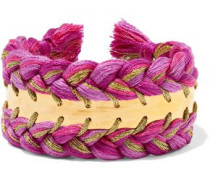 Copacabana gold-tone braided cotton cuff