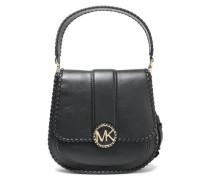 Lille Whipstitched Leather Shoulder Bag Black Size --
