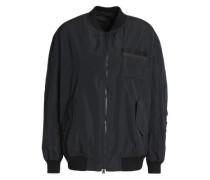 Bead-embellished shell bomber jacket