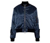 Crystal-embellished gabardine bomber jacket