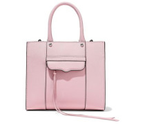 M.a.b. Textured-leather Tote Baby Pink Size --