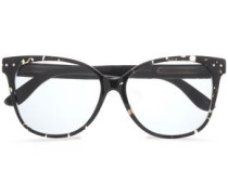 D-frame Quilted Acetate Sunglasses Gray Size --