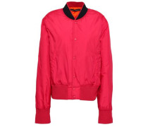 Shell Bomber Jacket Coral