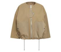 Cotton-gabardine Jacket Sage Green
