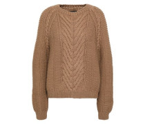 Isha Cable-knit Wool Sweater Sand