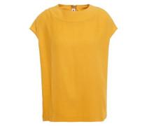 Woman Crepe Top Mustard