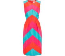 Color-block Silk-faille Dress Bright Orange