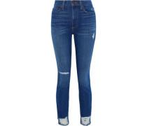 Good Distressed High-rise Skinny Jeans Mid Denim  5