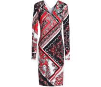 Crystal-embellished stretch-knit dress