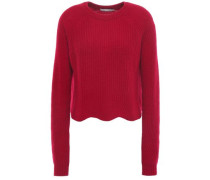 Ribbed Cashmere Sweater Crimson