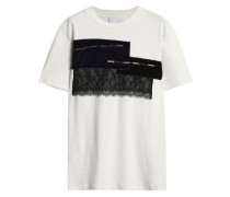 Embellished cotton-jersey T-shirt