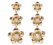 Woman Gold-plated Crystal Earrings Gold