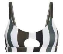 Colombia Cutout Striped Bikini Top White