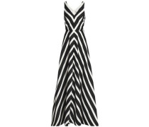 Metallic striped woven gown