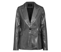 Elena Metallic Cotton-blend Blazer Silver