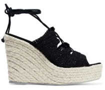 Woven wedge espadrilles